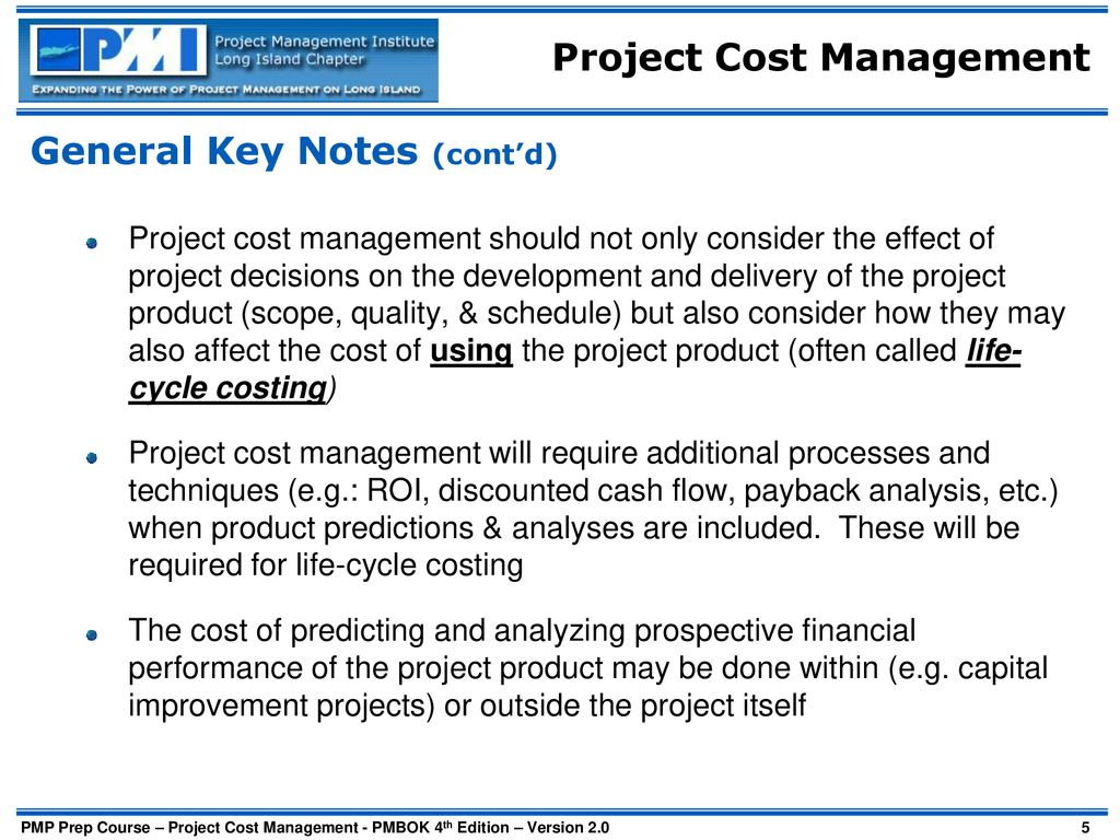 PMP Study Group Cost Management  - ppt download