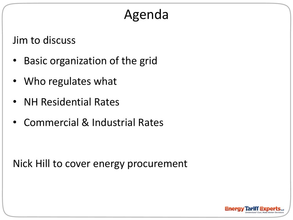 Electric Rates 101: Understand Your Rates, Control Your Bill - ppt