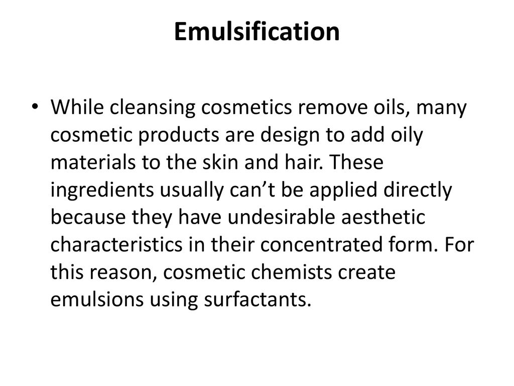 Surfactants and Humectants in Cosmetics - ppt download