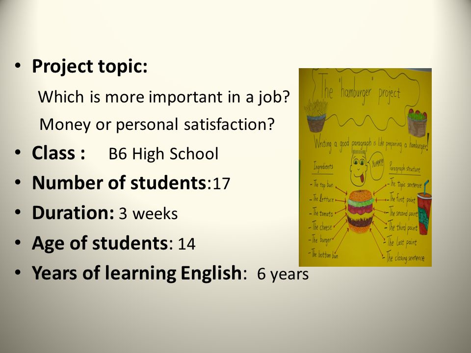 english project topics for class 6