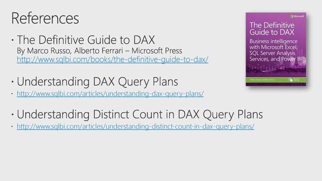 Toolkit for DAX Optimization - ppt download