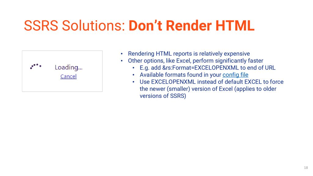 High Performance SSRS: Techniques for Fast Reporting - ppt