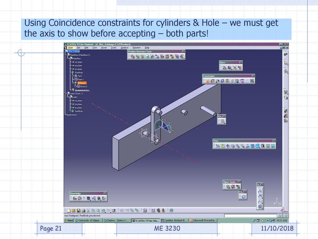 Using the CATIA DMU Kinematics Tools – Part 1 - ppt download