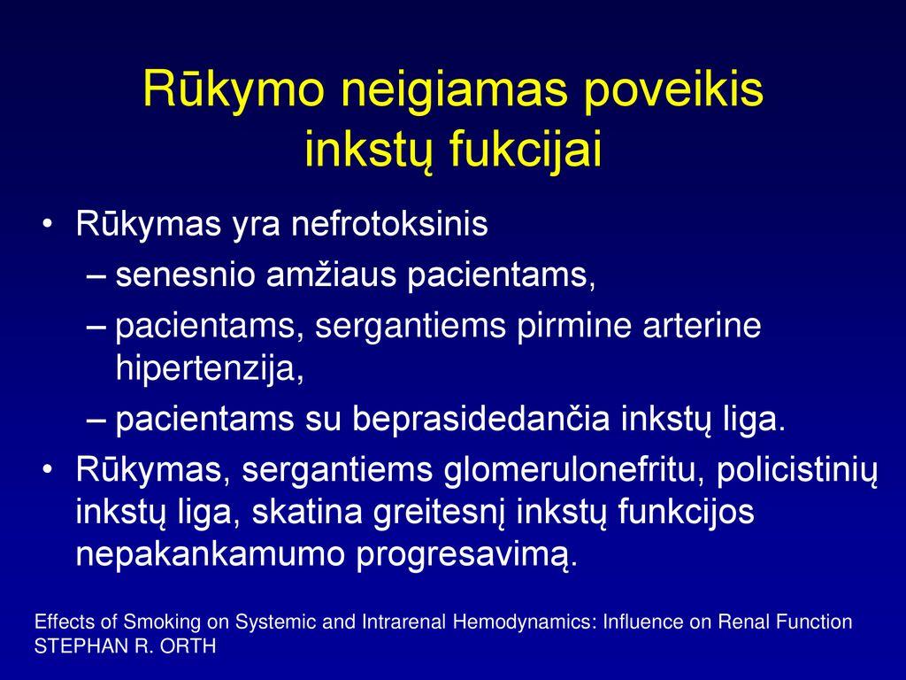 hipertenzijos palpacija