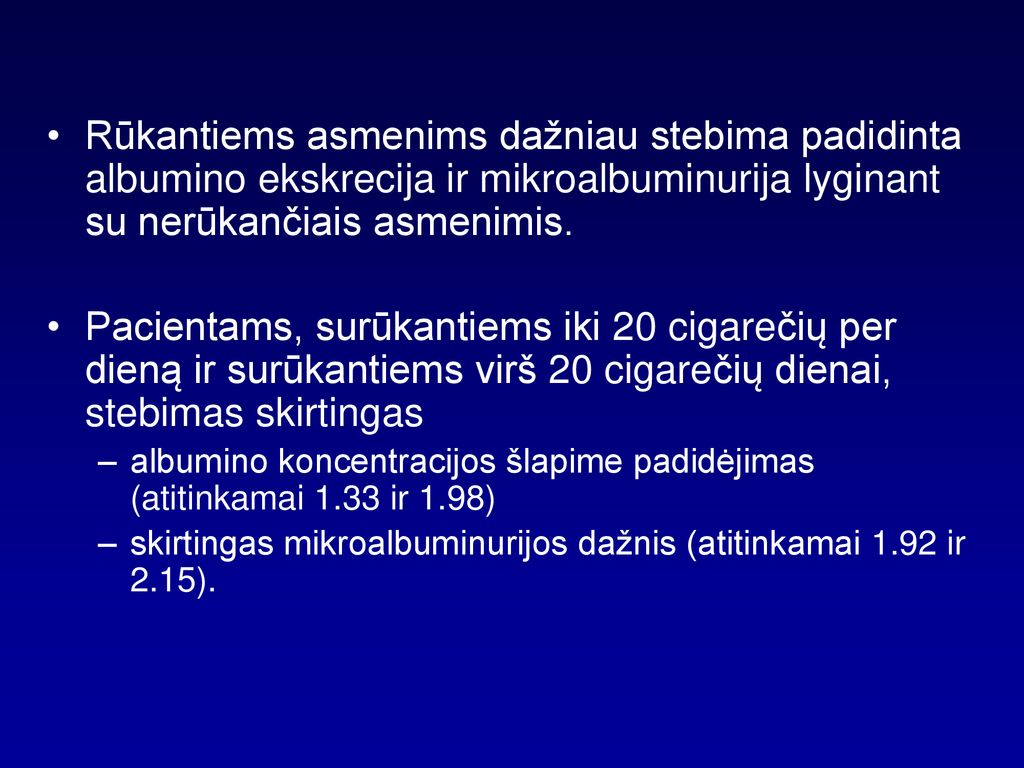 mikroalbuminurija ir hipertenzija