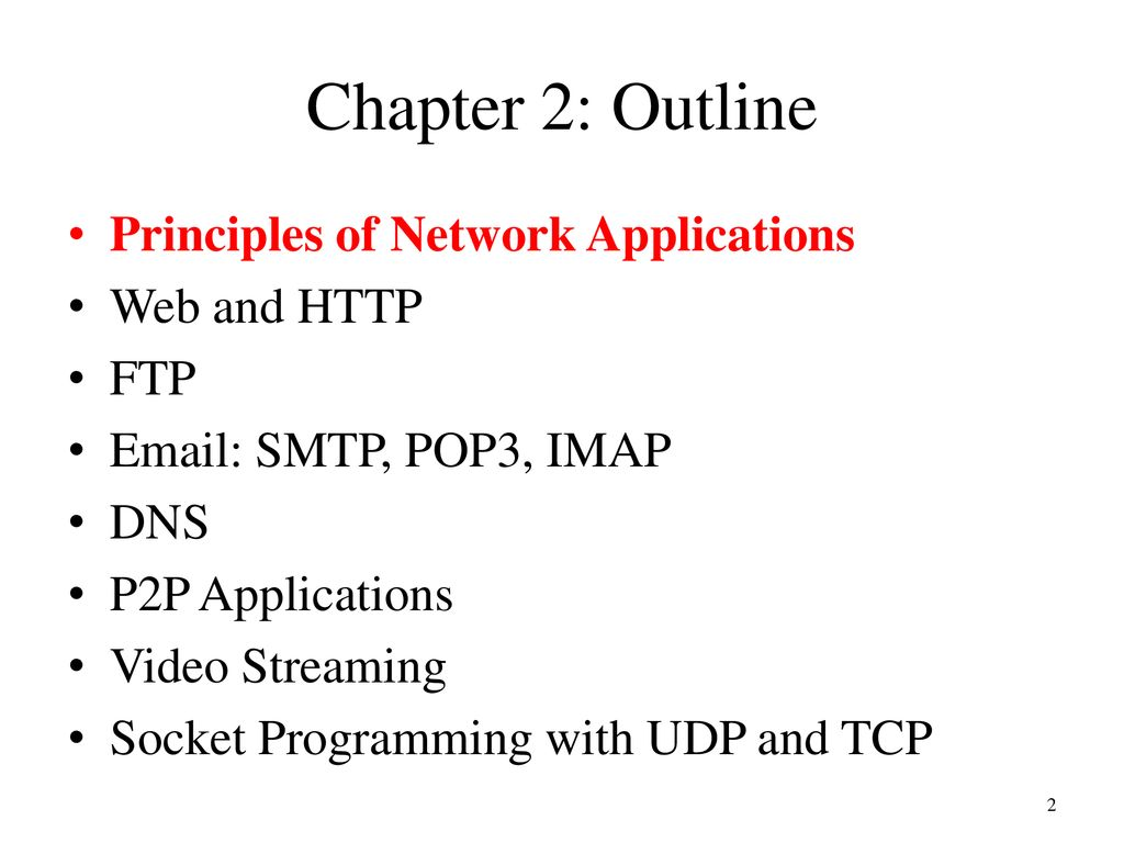Part 2: Application Layer - ppt download