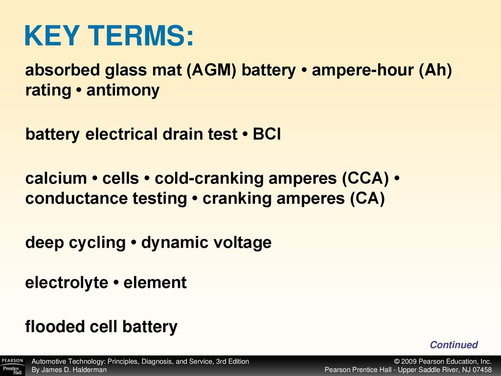 Key Terms Absorbed Gl Mat Agm Battery Ampere Hour Ah