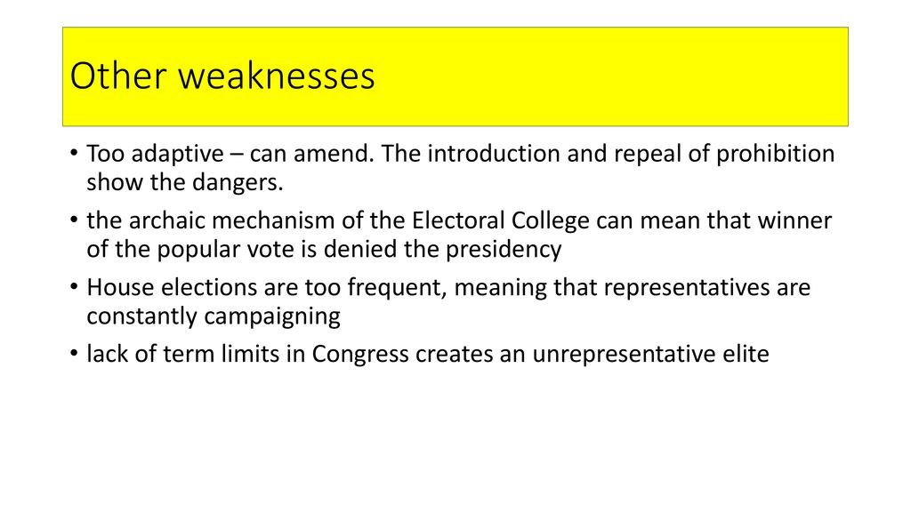 electoral college weaknesses