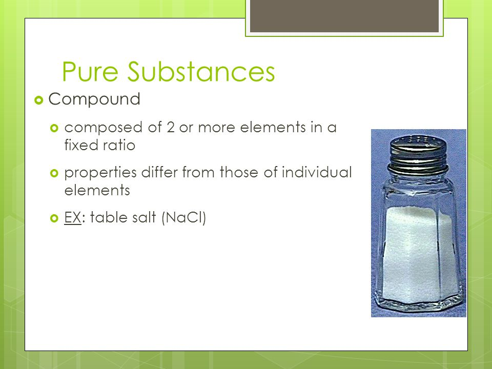 Pure Substances Compound