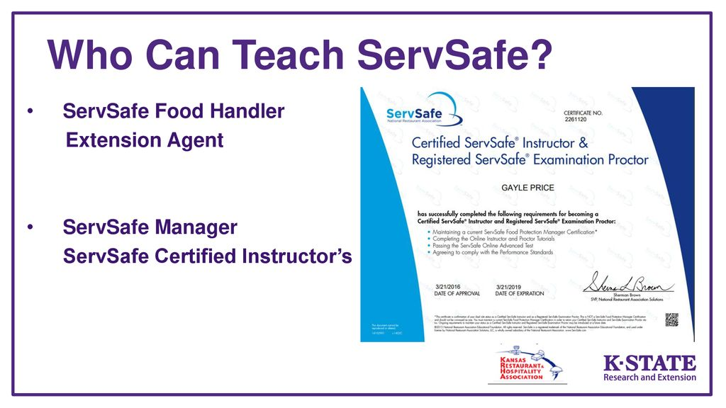 Servsafe Manager Certification Choice Image Free