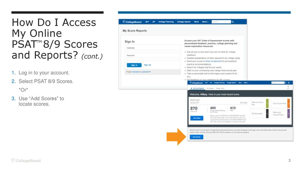 How to understand and access your online PSAT scores: - ppt