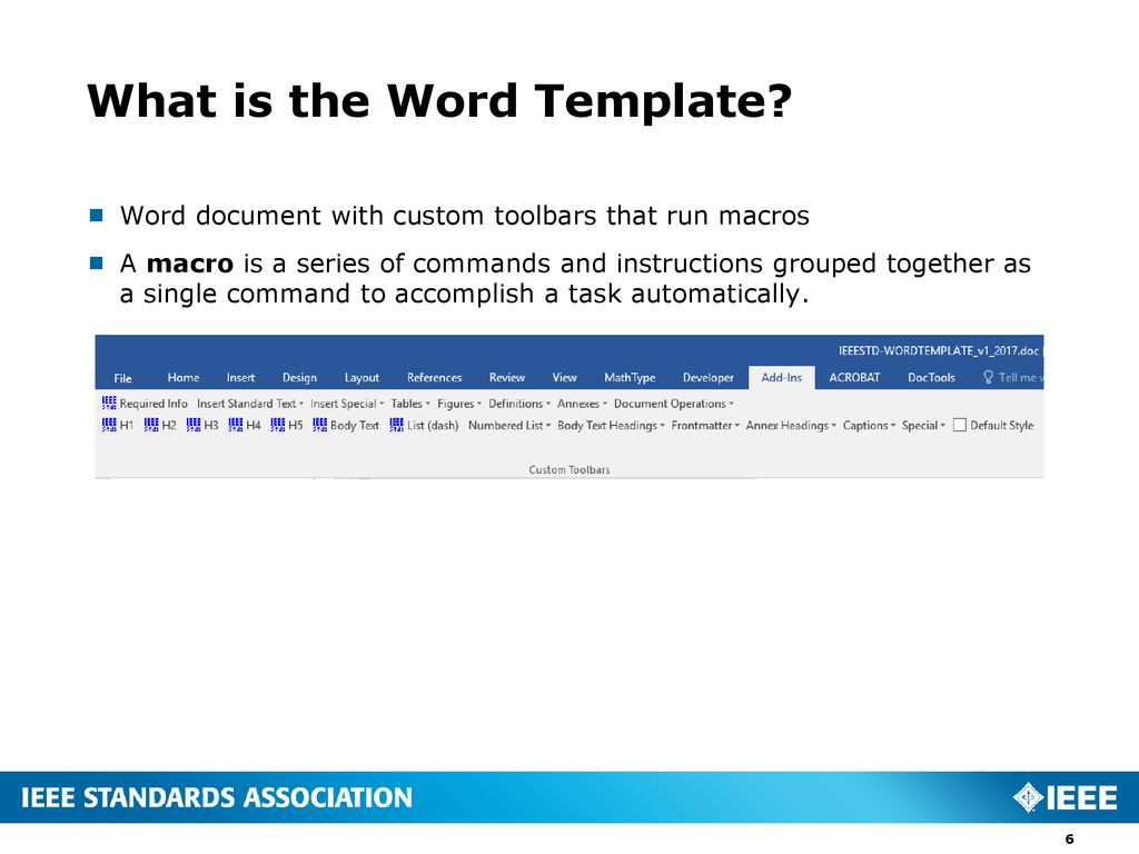 what is a word template