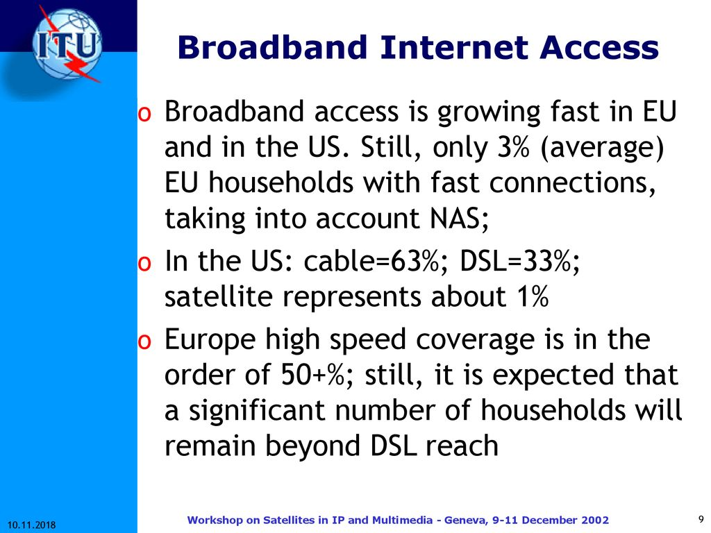 Internet, Broadband and Satcoms: the challenges ahead - ppt