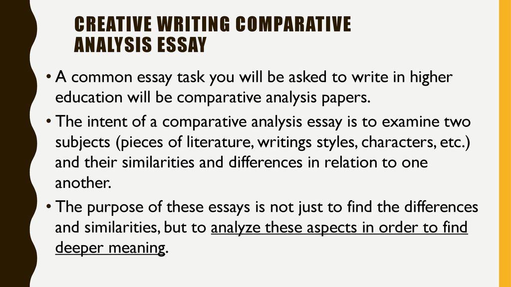 how to write a comparative analysis essay