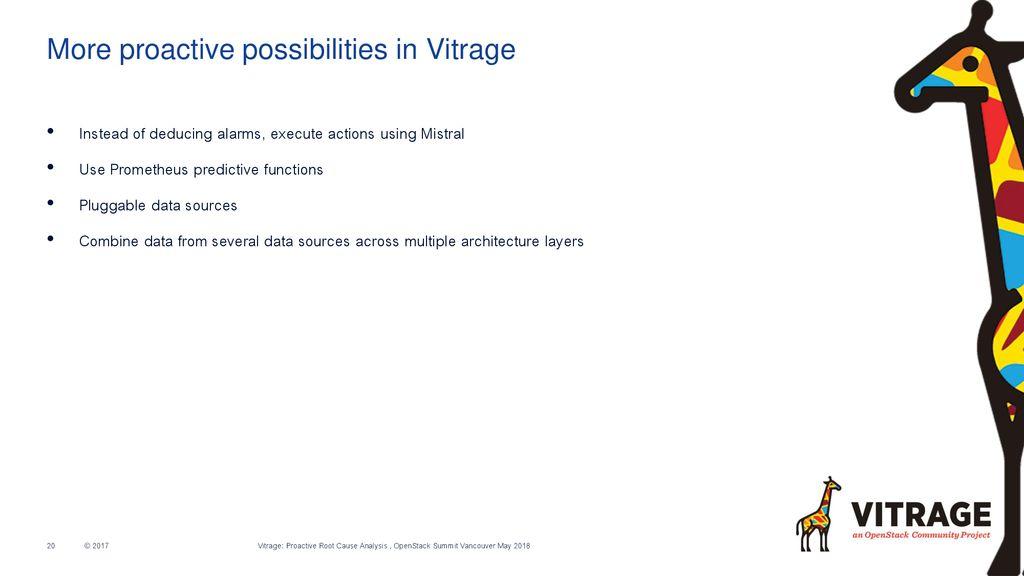 Proactive RCA with Vitrage, Kubernetes, Zabbix and