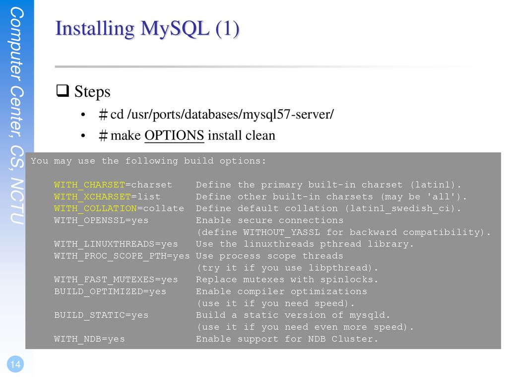 FreeBSD/Apache/MySQL/PHP weicc - ppt download