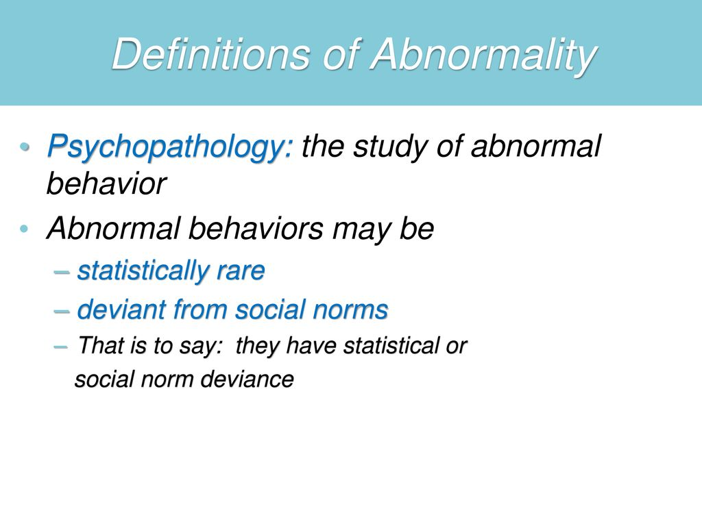 rare abnormal psychology disorders