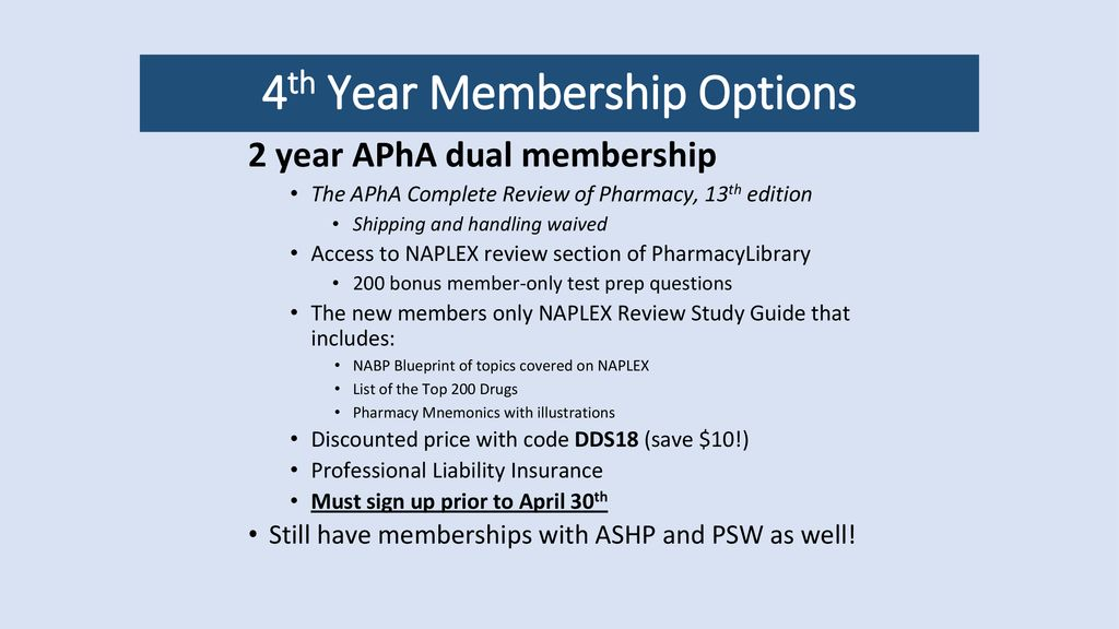 4th Year Membership Options Ppt Download