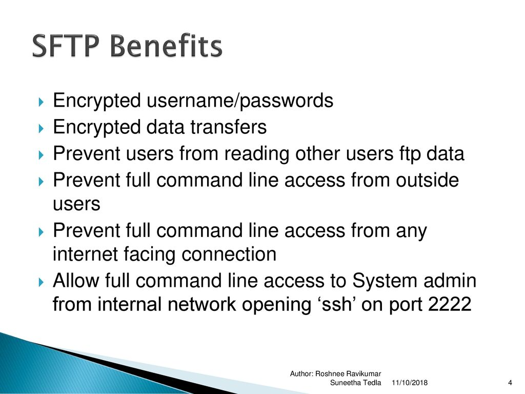 Secure File Transfer Protocol (SFTP) - ppt download