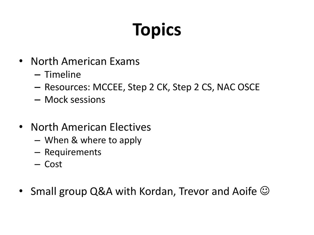 Exams and Electives ppt download