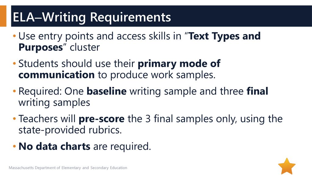 ELA Writing Access Skills And Low Entry Points Ppt Download