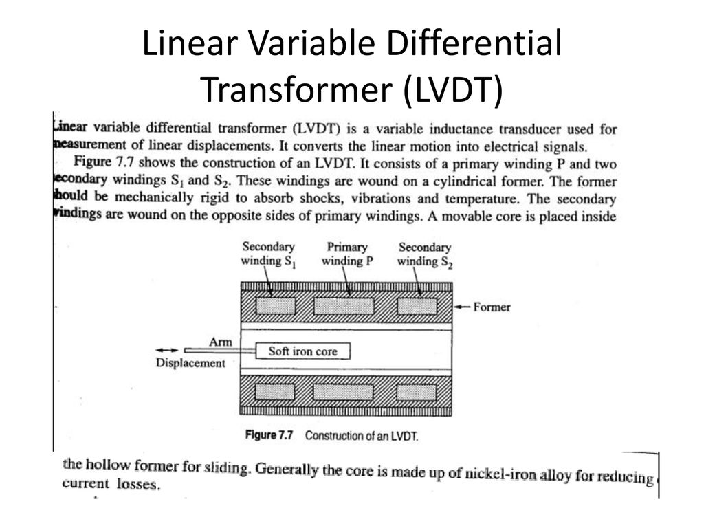 Linear Voltage Differential Transformer Signal Conditioner Design Electromechanical Systems Ppt Download 53 Variable Lvdt