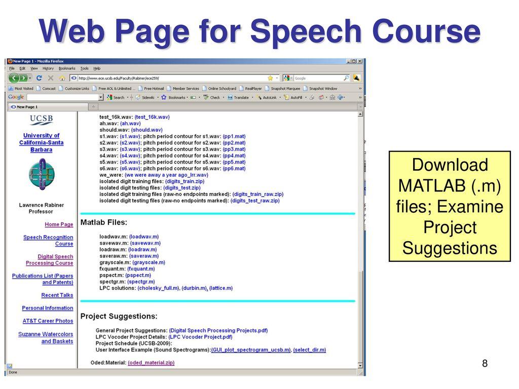 Digital Speech Processing - ppt download