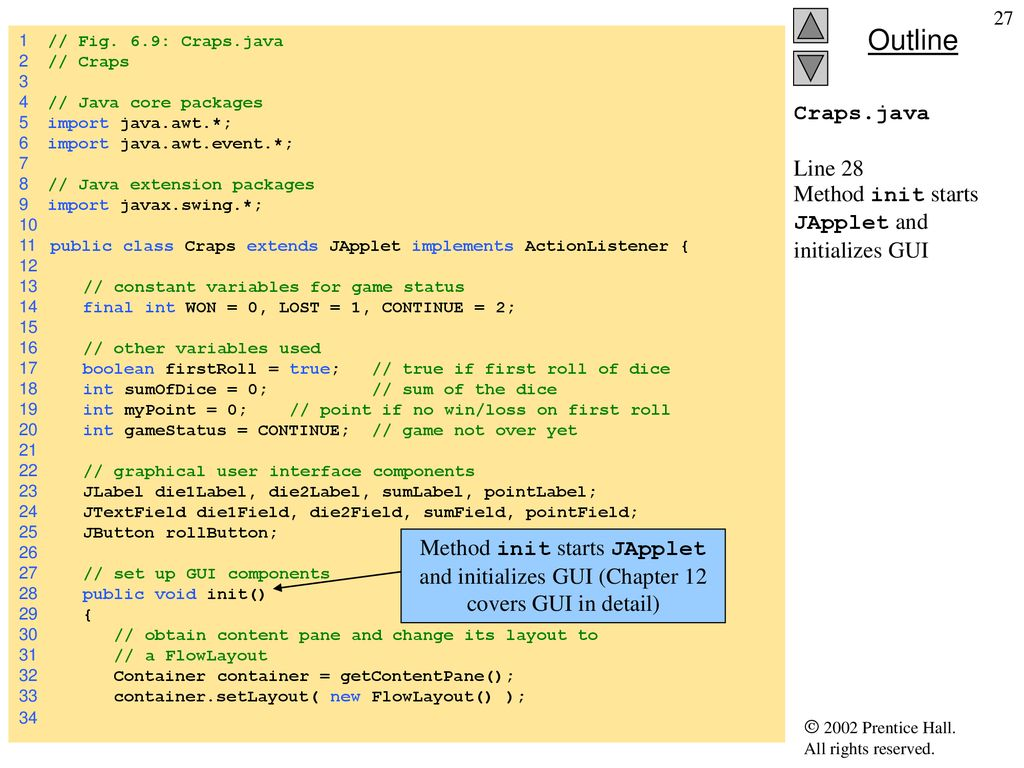 Chapter 6 - Methods Outline 6 1 Introduction 6 2 Program