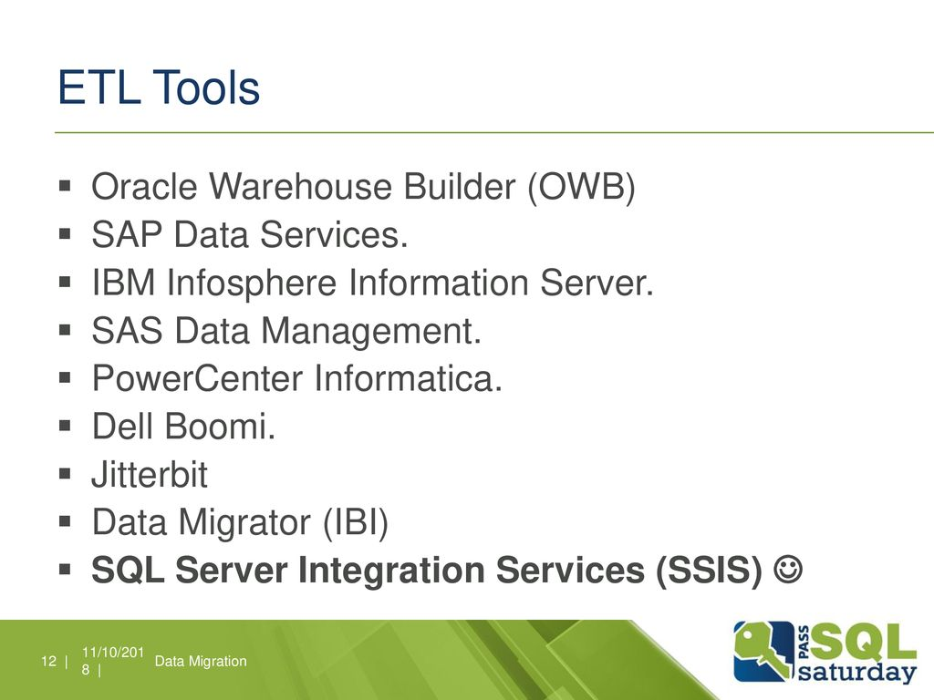 ETL with SSIS SQL Saturday Lima - ppt download