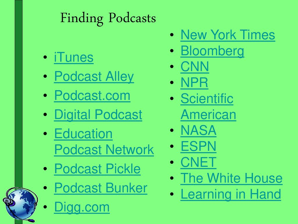PODCASTING put your ear and voice to the world - ppt download