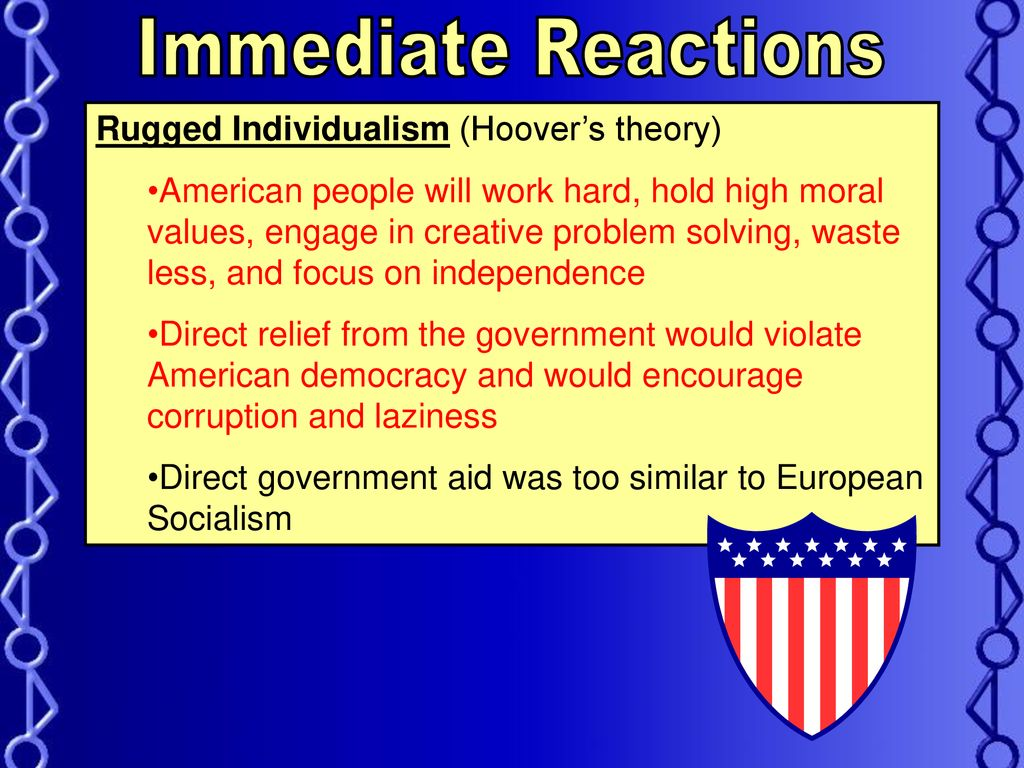 Immediate Reactions Rugged Individualism Hoover S Theory