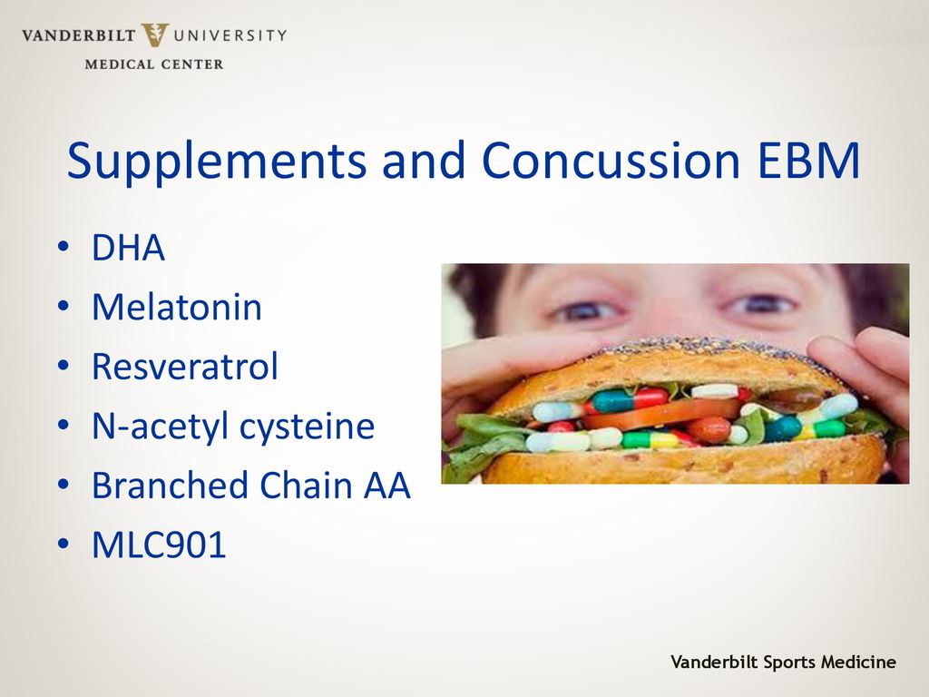 2018 Sports Concussion Update Supplements in Concussion Tx EBM - ppt