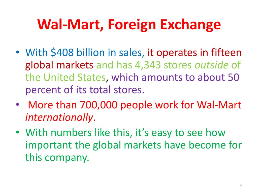 Wal Mart Foreign Exchange