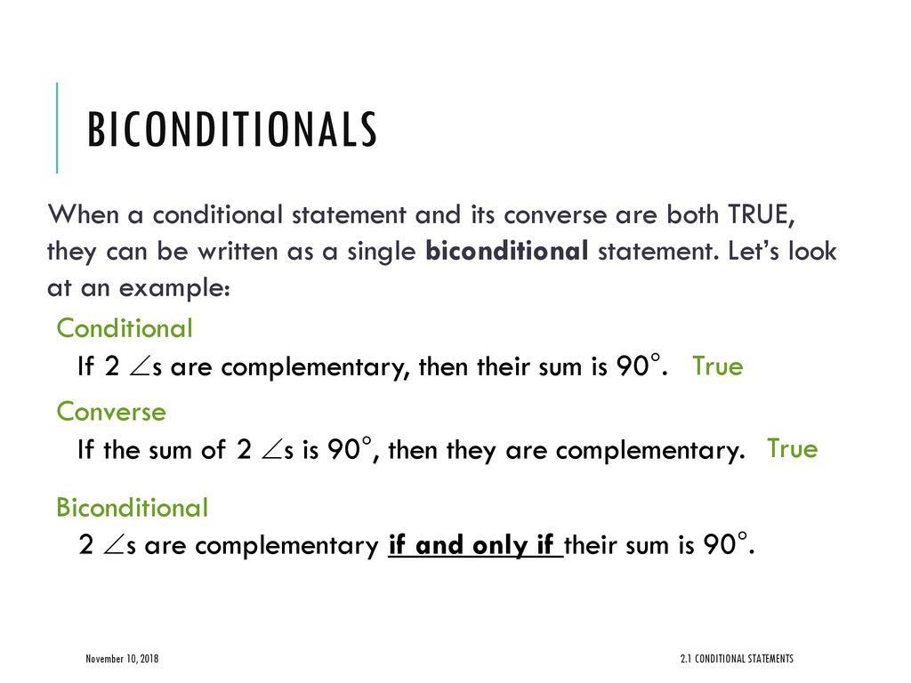 2.1 conditional statements - ppt download