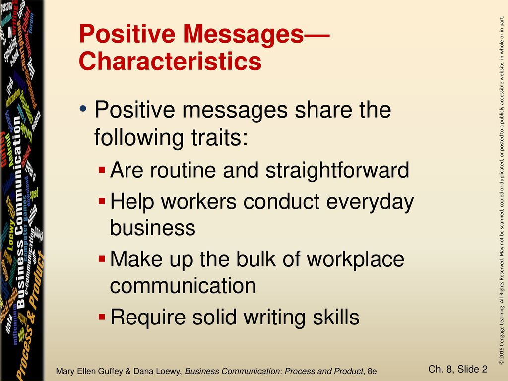 Chapter 8 Positive Messages Ppt Download