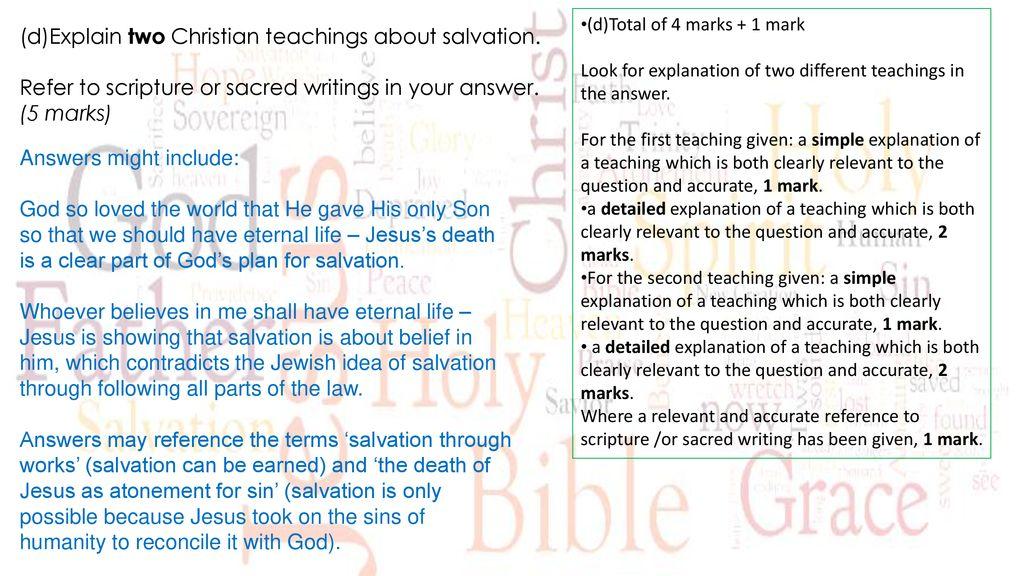 Christian Beliefs Revision  - ppt download