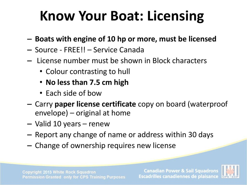 Free Boating License