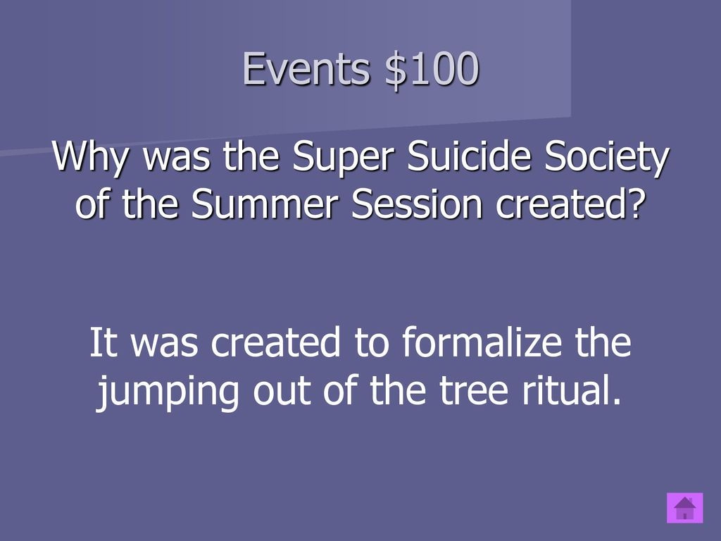 super suicide society of the summer session