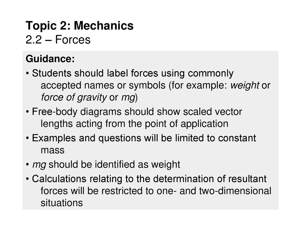 Topic 2 Mechanics 22 Forces Ppt Download Body Diagrams Examples