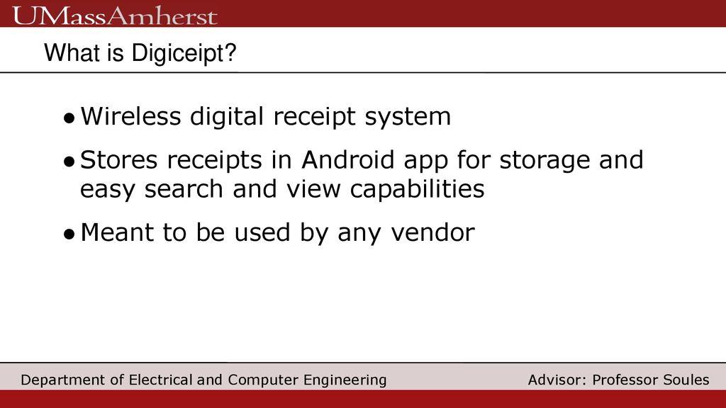 Final Project Review Team Digiceipt April 19, ppt download