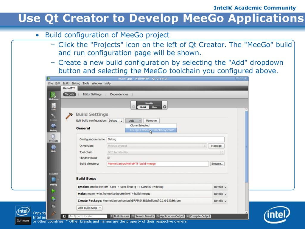 Mobile Application Development with MeeGo™ - Programming with SDK