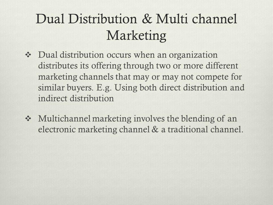 Dual Distribution & Multi channel Marketing