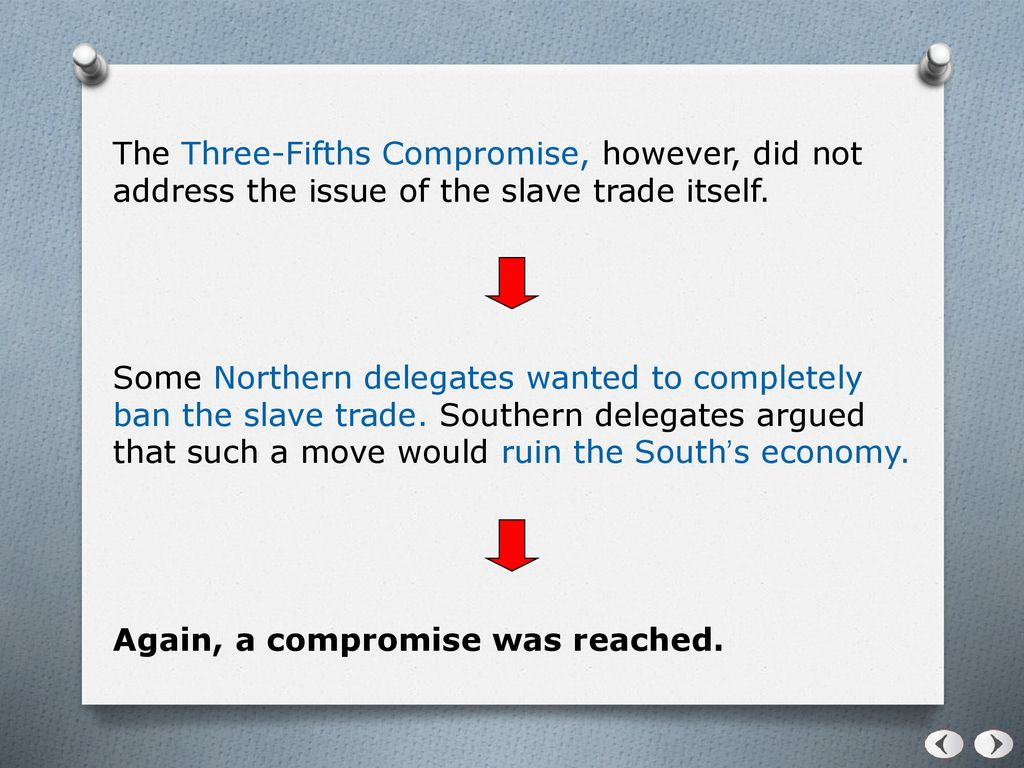 three fifths compromise provisions