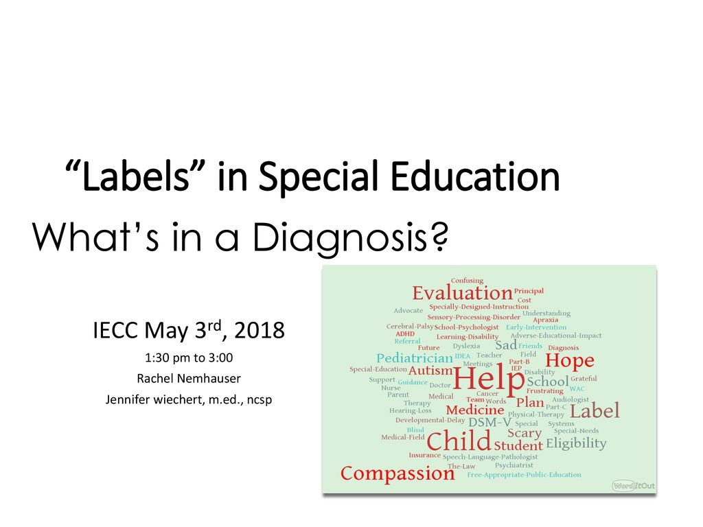 Whats In Label In Special Ed Words >> Labels In Special Education Ppt Download