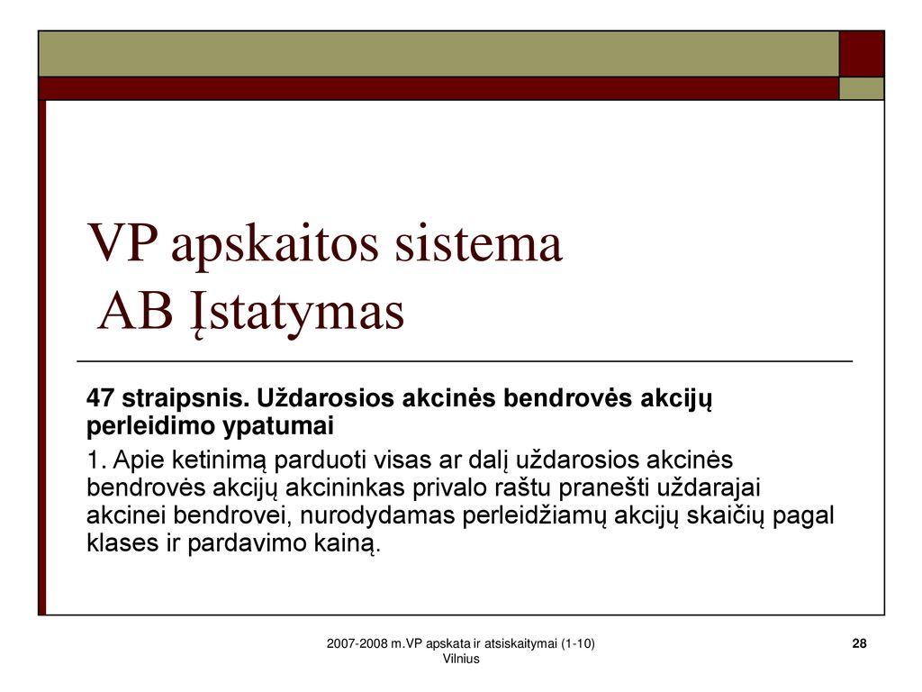 grynųjų atsiskaitymų akcijų pasirinkimo sandorių apskaita)