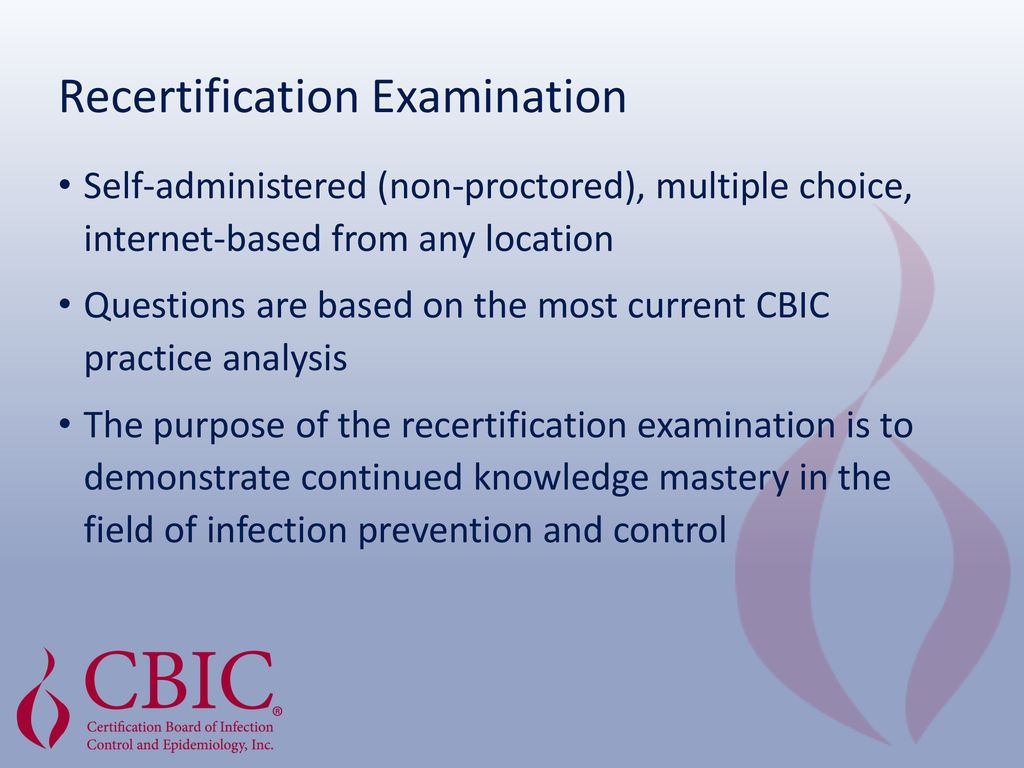 Certification in Infection Prevention and Control (CIC