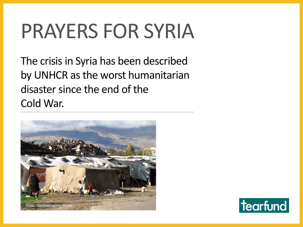God is our Refuge A Tearfund prayer resource for Syria