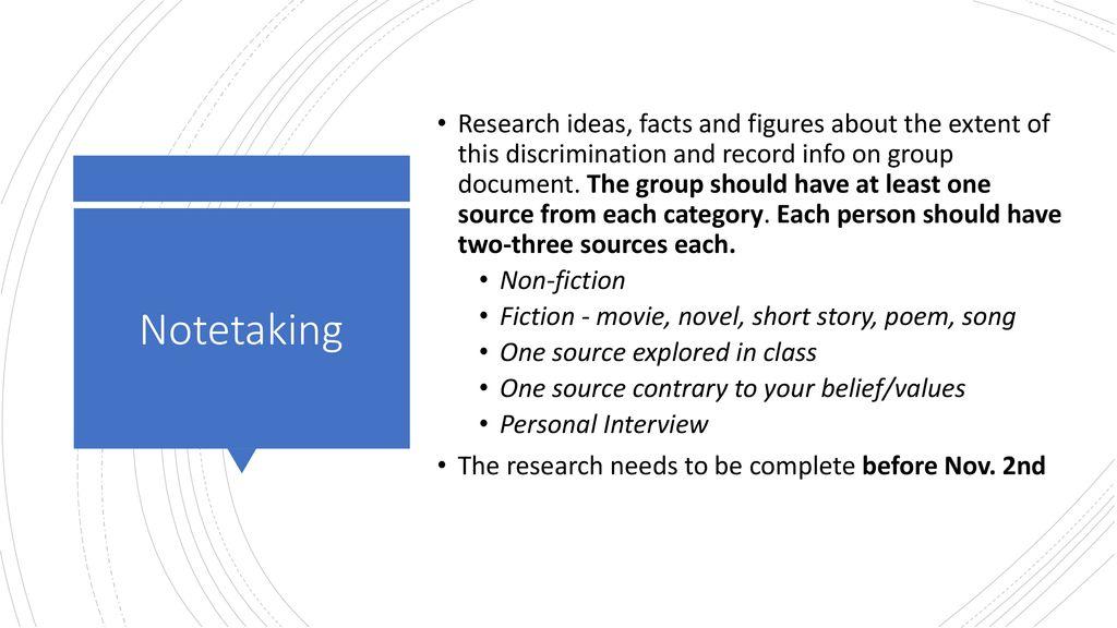 discrimination research topics