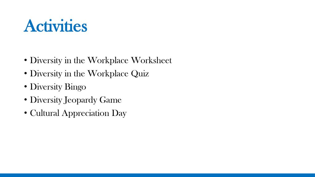 Diversity in the Workplace - ppt download