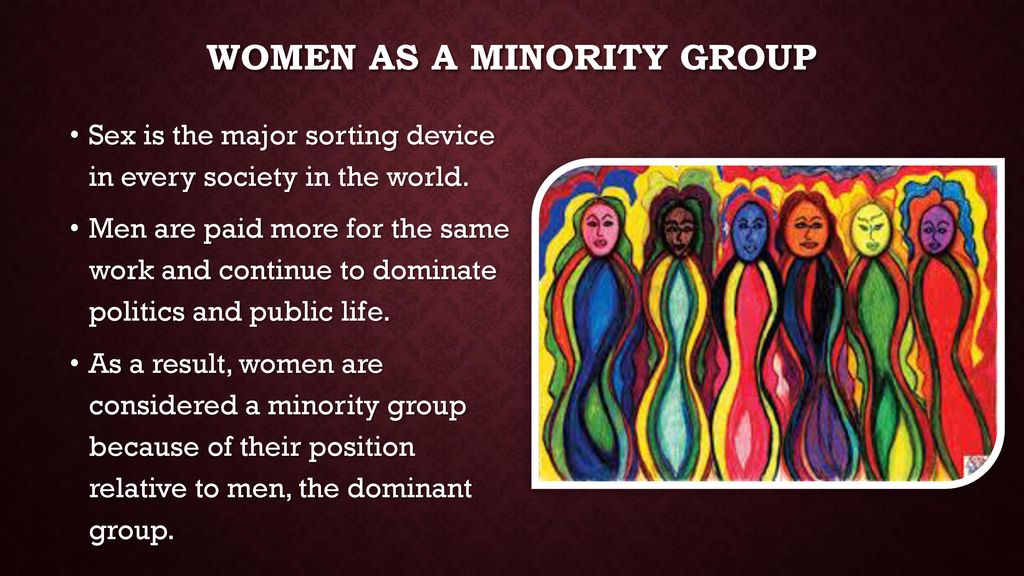 are women considered a minority group